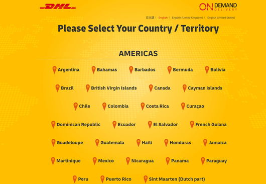 Select your country or territory.