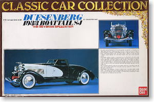 Duesenberg Boat Tail Sj Model Car Bandai Classic Collection 10