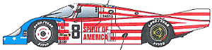 1/43 956 Spirits of America 1986 (Long tail) (レジン・メタルキット)