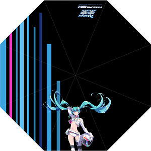 Hatsune Miku Racing ver.2014 Team Mirai Long Umbrella (Anime Toy)