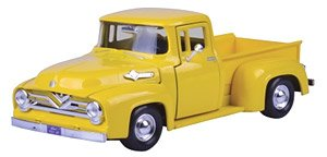 1955 Ford F100 Pickup (Yellow) (Diecast Car)