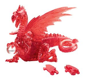 3D Jigsaw Puzzle Crystal Puzzle Red Dragon (Puzzle)