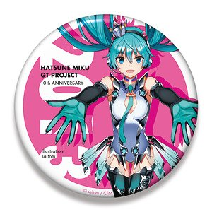 Hatsune Miku Racing Ver. 2013 Big Can Badge 10th Anniversary Design 2 (Anime Toy)