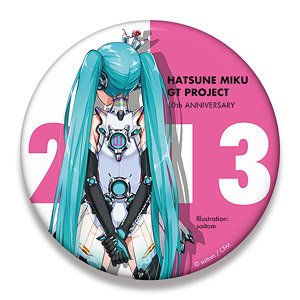 Hatsune Miku Racing Ver. 2013 Big Can Badge 10th Anniversary Design 5 (Anime Toy)