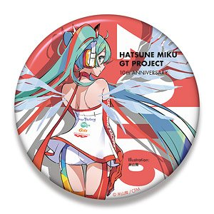 Hatsune Miku Racing Ver. 2016 Big Can Badge 10th Anniversary Design 5 (Anime Toy)