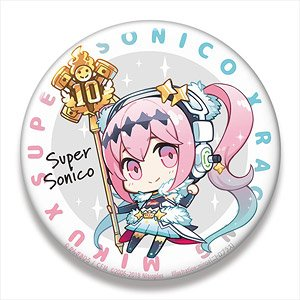 Hatsune Miku Racing Ver. 2018 Big Can Badge Super Sonico Collaboration Ver.4 (Anime Toy)
