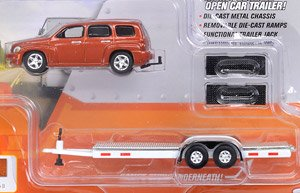 Truck and Trailer 2006 Chevy HHR with Open Car Trailer Sunburst Orange II (ミニカー)