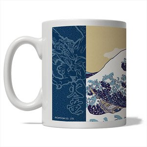 Monster Hunter Ukiyoe Mug Rathalos & Rathian x Fugaku (Anime Toy)