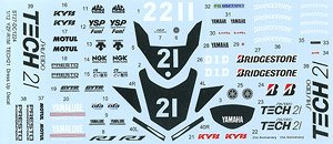 YZF-R1M `TECH21` Dress Up Decal (デカール)