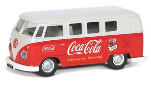 VW Camper 1960`s (Early Model) Coca Cola (Diecast Car)