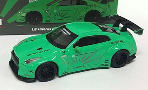 LB Works Nissan GT-R R35 Type 1 Rear Wing Ver.1 Light Green Philippines Limited Edition (Diecast Car)