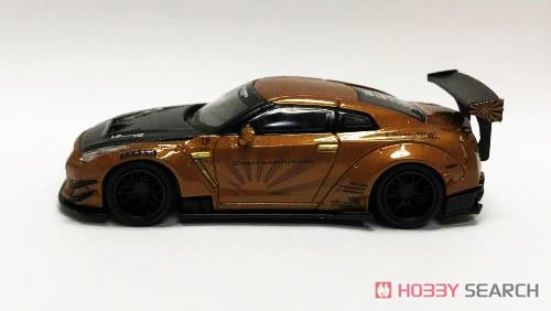 LB WORKS Nissan GT-R R35 Type2 Rear Wing Version 3 Metallic Brown (RHD) Indonesia Limited Edition (Diecast Car) Item picture1