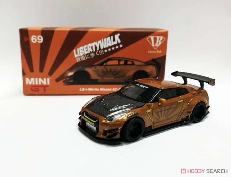 LB WORKS Nissan GT-R R35 Type2 Rear Wing Version 3 Metallic Brown (RHD) Indonesia Limited Edition (Diecast Car) Other picture1