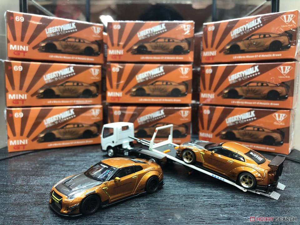 LB WORKS Nissan GT-R R35 Type2 Rear Wing Version 3 Metallic Brown (RHD) Indonesia Limited Edition (Diecast Car) Other picture2
