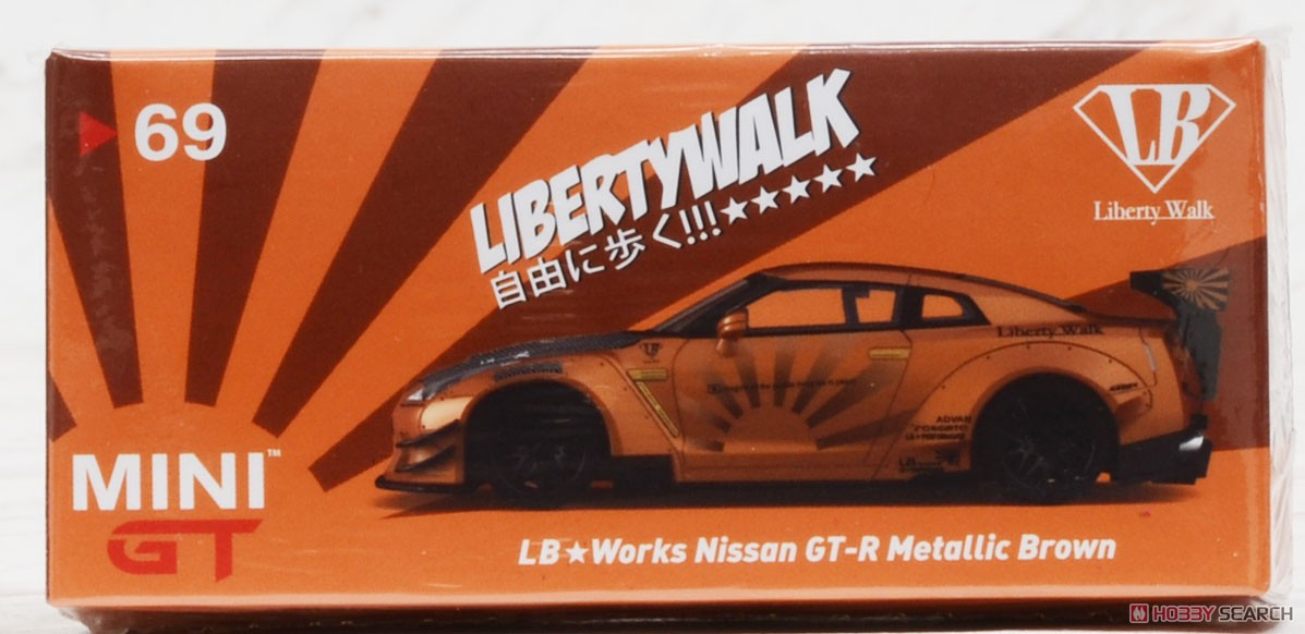 LB WORKS Nissan GT-R R35 Type2 Rear Wing Version 3 Metallic Brown (RHD) Indonesia Limited Edition (Diecast Car) Package1