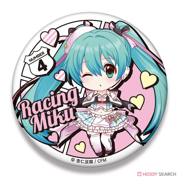 Racing Miku 2019 Ver. Nendoroid Plus Big Can Badge 2 (Anime Toy) Item picture1