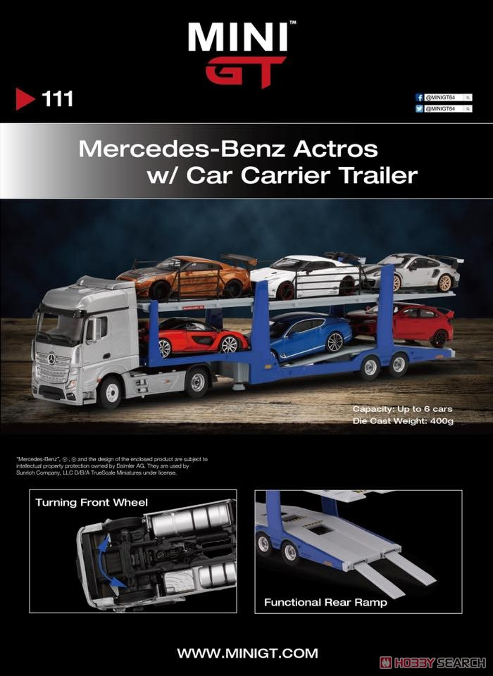 Mercedes-Benz Actros / Car Carrier Trailer (LHD) (Diecast Car) Other picture2