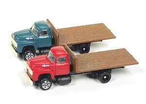 1954 Ford Flat Bed Truck (Set of 2) (Diecast Car)