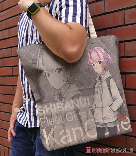 Kantai Collection Shiranui Full Graphic Large Tote Bag Autumn Casual Wear Mode Natural (Anime Toy) Other picture1