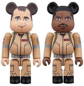 BE@RBRICK GHOSTBUSTERS 100% 2PC SET Peter Venkman/Winston Zeddemore (完成品)