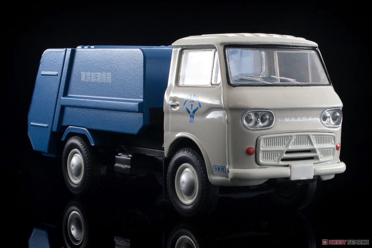 TLV-186a Mazda E2000 Garbage Truck (White/Blue) (Diecast Car) Item picture7