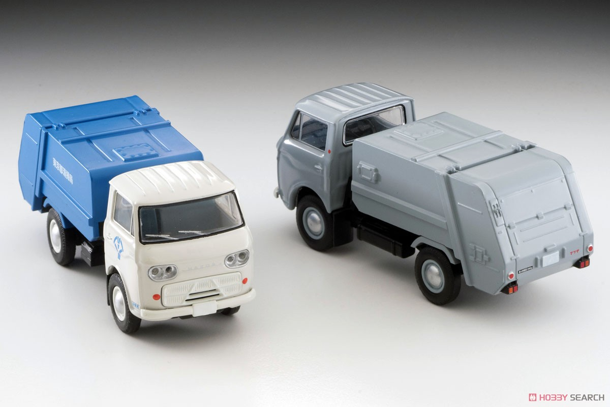 TLV-186a Mazda E2000 Garbage Truck (White/Blue) (Diecast Car) Other picture1