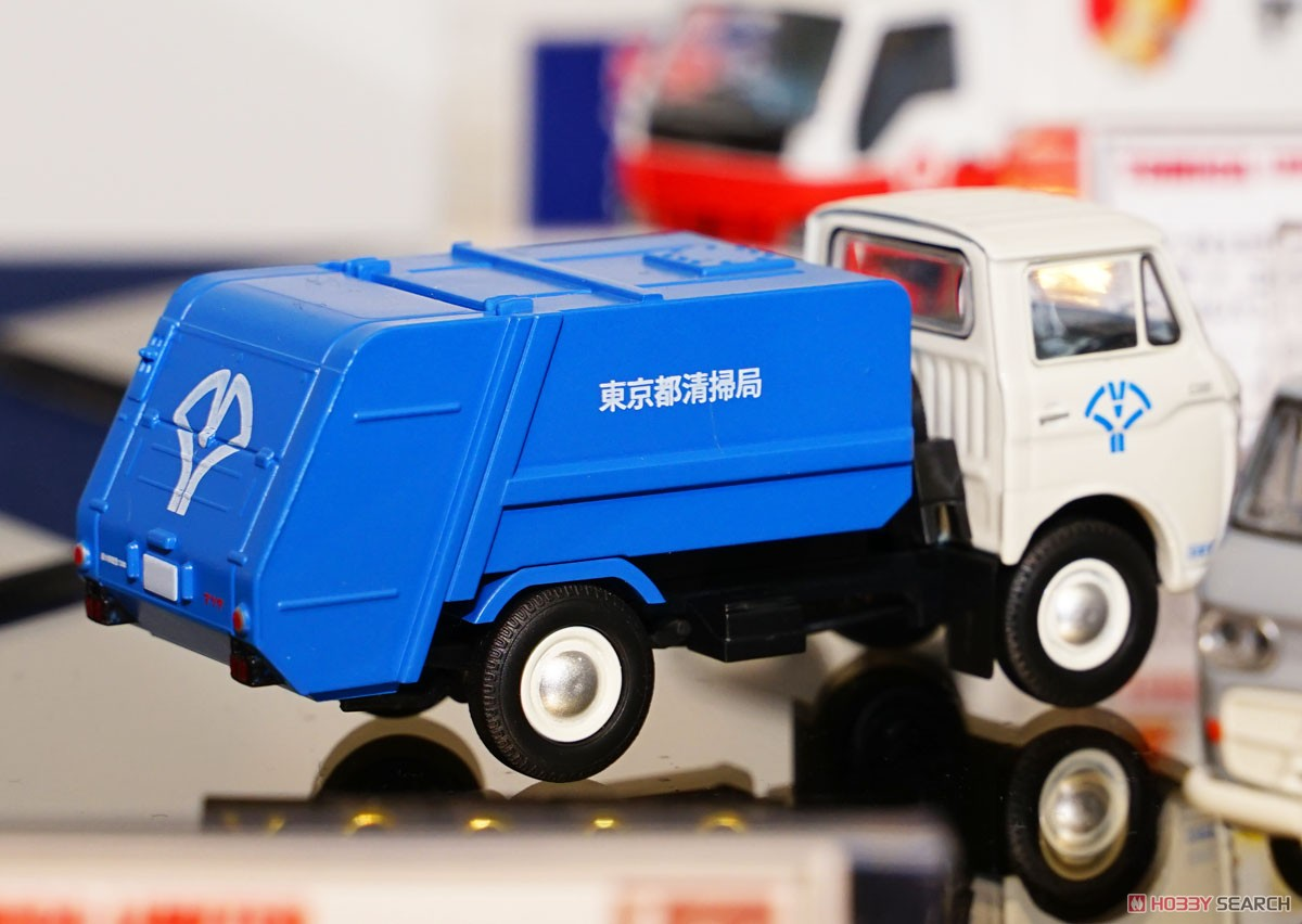 TLV-186a Mazda E2000 Garbage Truck (White/Blue) (Diecast Car) Other picture2