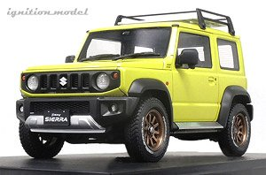 SUZUKI Jimny SIERRA JC (JB74W) Lift Up Kinetic Yellow/Black (ミニカー)