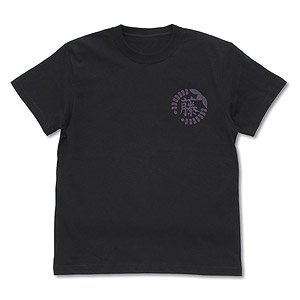 Demon Slayer: Kimetsu no Yaiba Wisteria Flower Family Crest T-Shirt Black S (Anime Toy)