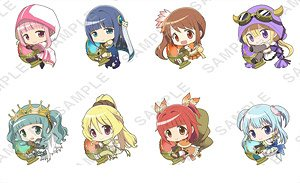 [Puella Magi Madoka Magica Side Story: Magia Record] Pitacolle Clear Clip Badge (Set of 8) (Anime Toy)
