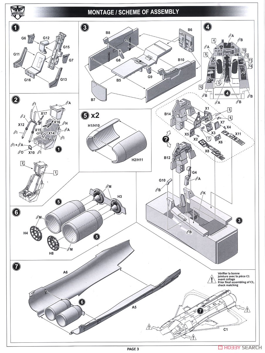 Mirage 4000 Prototype Fighter w/ Weapons (Plastic model) Assembly guide1
