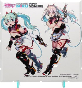 Dioramansion 150: Racing Miku Pit 2020 Optional Panel (Super Sonico Collab Ver.) (Anime Toy)