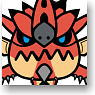 Monster Hunter x Panson Rubber Key Ring (Rathalos) (Anime Toy)