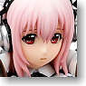 Super Sonico Gothic Maid ver. + Bed Base Set (PVC Figure)