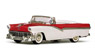 1956 Ford Fairlane Open Convertible (Red/White)
