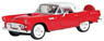 1956 Ford Thunderbird (White/Red) (Diecast Car)