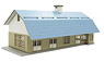 Wooden Station Building Hokkaido Type (Unassembled Kit) (Model Train)
