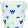 Monogram Pattern Dragon Quest Mug Cup White & Blue (Anime Toy)