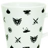 Monogram Pattern Dragon Quest Mug Cup White & Black (Anime Toy)