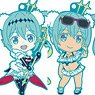 Racing Miku 2018 Ver. Nendoroid Plus Collectible Rubber Keychains (Set of 6) (Anime Toy)