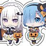Acrylic Key Ring [Re:Zero -Starting Life in Another World-] 02 Halloween Ver. Blind (Mini Chara) (Set of 5) (Anime Toy)